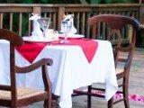 Romantic Dinner setting at the Lodge at Pico Bonito