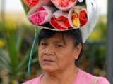 Flower vendor in Antigua