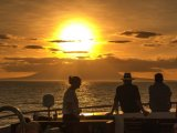 Unforgettable sunset aboard the Galapagos Grand Odyseey