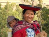 Indian Lady and Child in the Sacred Valley