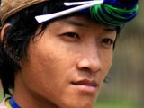 Nishi Tribal man Arunachal Pradesh - India by Diganta Talukdar