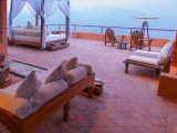 Outdoor Living Area in a Suite at the Dwarika's Resort