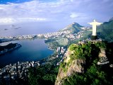 Corcovado Mountain, aerial view