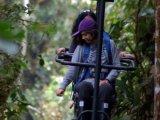 SkyBike adventure at the Mashpi Lodge, Ecuador