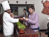 Check-in with herbal tea at the Spice Village