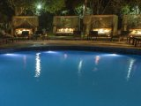 Dwarika's Resort - Swimming pool at night