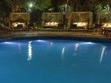 Dwarika's Resort - Swimming pool at night